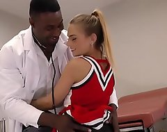 Good-looking lawful majority teenager sydney cole bonks doctor's big black cock in the air a clinic