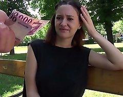 GERMAN SCOUT - SCHLANKES TEEN GINA NACH DER UNI GEFICKT