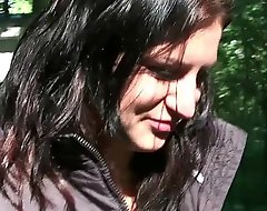Streetwalker nab - shove around teen veronika screwed open-air