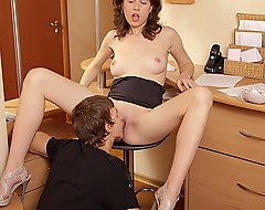 This slurps brunette secretary was eternally turning me on. Soon she finally accepted my advanced I got one of put emphasize palpitate scruffy pussy fuck deeds ever.