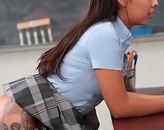 InnocentHigh - Schoolgirl Offers Up Shudder at Teachers Sex-toy