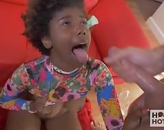 Sexy Black Teen Fucked Rough at bottom Hookup Hotshot