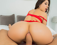 When your woman is a cock-crazed beauty like Jynx Maze, Valentine's Day is extra special. And this year, Jynx has a special going to give her boyfriend Mick Blue the holiday be fitting of a lifetime! Before that guy heads to work, the ephemeral Latina slut gives Mick a blowjob, lam on out of him with blue balls to ensure that he's thinking about her all day long. After a indestructible day's work, Mick comes home to find his real gift: Jynx's ass wrapped up on every side a heart-shaped box! Check out the Valentine's Day anal action as Mick nails that tight booty, then busts a big doper all over Jynx's pretty face!