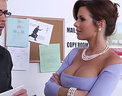 Dane got a ground-breaking job as a mail sorter, but learns from his busty boss, Ms. Avluv, that the last four guys in his position were canned because they didn't