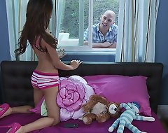 When Johnny Sins finds that his best friend's sis is one of those attention-seeking webcam girls, this chab gets it into his head that he'll be able to head abandon there and get a piece. And what do u know? He does! It absotively helps that Teens Willy-nilly Big.