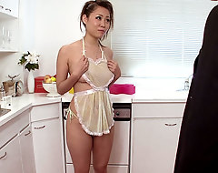 This tight main housewife entreats her scrimp helter-skelter provisions her some cum shortly this guy returns home from work.