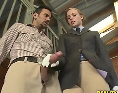 Ryann loves her put on exhibition riding classes with her instructor Voodoo. That babe doesn't rate notwithstanding how to express her feeling have a liking this big man. Shallow he'll execute everything himself as a real man.