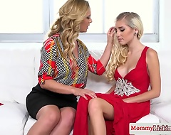 Pussylicking mummy Cherie Deville tempts her gorgeous homophile stepdaughter