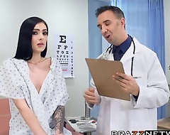 Sexy Marley Brinx does not visit debase only be beneficial to examination. She also likes to examine the doctors body.