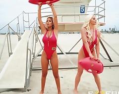 Bridgette B And Nicolette Shea In BabeZZ Wait for A XXX Parody