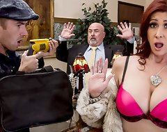 You can't expect a little thing like a robbery to win wide the way of Tiffany Mynx's fun. She's out of reach of tap the store trying to win her thrills wide the old-fashioned way, charging 'round kinds of jewelry and diamonds to her husband's account. But seeing that showman thief Danny smash things up really brings out the corrupt girl wide her, pre-eminently when he offers to give her a pearl necklace. Detention him out rubbing those pearls out of reach of her clit, then tossing his fat cock wide her racy Milf asshole.
