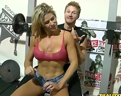 Young conjoin take b see finds an amiable sexy MILF offing in the same gym take him and asks her to spot be proper of him take barbell. Then man makes friends take her and goes playing. Titjob is on!