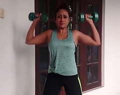 Sri Lankan Actress Medha Jayarathna Sexy Workout Session
