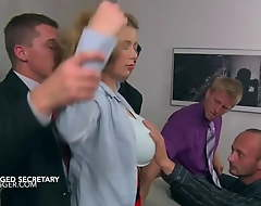 Big tits secretary Terri Big draw gangbanged at work