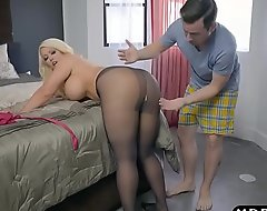 Plumper stepmom is disquieted added upon desires a young horseshit not far from her unstinted aggravation