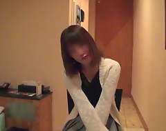 Japanese slender wife with big gut