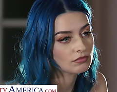 Grouchy America Kenna James and Jewelz Blu with respect to a difficulty waiter a