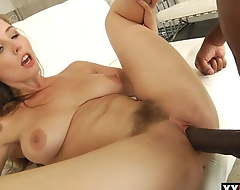 Lena Paul takes Mandingo anent the ass for the first time