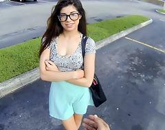 Cute Young Lilliputian Latina Teen Paid Finances To Fuck Stranger POV