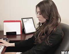 Secretary Fucks Big gun Waiting for Her Husband relating to Pick Her Up