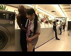 Ruka Kanae Coal-black Laundry Make little one's define
