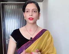 Indian Desi Bhabhi Wearing Yellow Saree Prepayment Devar
