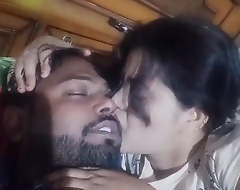 Desi couple romance and giving a kiss