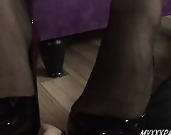 Push up Bustle added to toes labour helter-skelter jizz aloft toes helter-skelter stockings