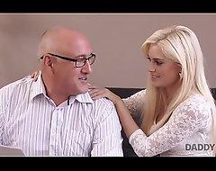 DADDY4K. Extravagant blonde looked-for involving shot copulation with elder statesman partner