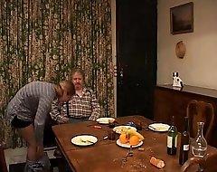 French old man spanking