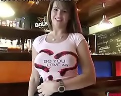 Chintia Doll In Big Titted Waitress Fucks for Valuables