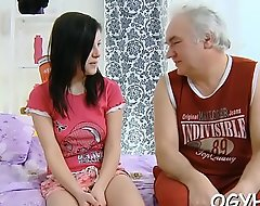 Old man seduces young babe