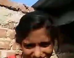 Desi village girl outdoor fingering