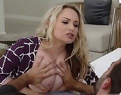 Blonde milf boots solo and helps him first time Stepmom To The Rescue