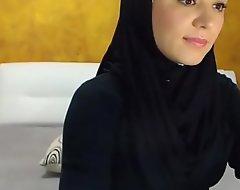 Arab hijab slut strip  and masturbation heavens cam