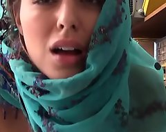 Forcible age teenage Wearing Hijab Caught Filching