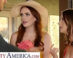 Naughty America - Izzy with an increment of Maya skip the pool party to fuck Jay