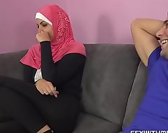 A horny guy copulates his Muslim sister-in-law