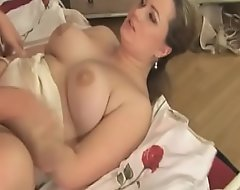 Chubby sweltering tart with bulky tits wants to be reprobate about