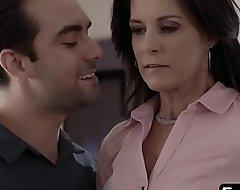 Stunning stepmom enjoys passionate sex with horny stepson