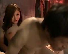 Inner rough japanese strapon femdom