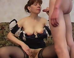 Russian Nurturer With Amazing Body Gets Fucked By Young Lover's Chubby Cock