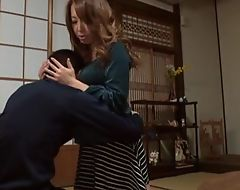 Sassy Japanese babe with top-drawer soul satisfying unwitting guy in POV