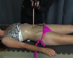 Sexy navel torture