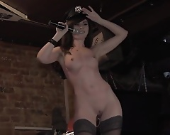 Jeny Smith drives a Moscow bar crazy dancing naked to a catch music