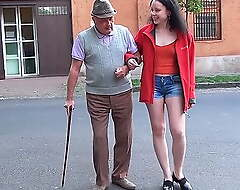 A happy fixture for grandpa with a epigrammatic dick