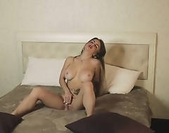 Masturbated my nasty wet snatch coupled regarding cum unending regarding my fingers in