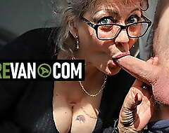 Sexy granny wants young weasel words in MatureVan