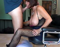 Stunning and sexy horny white wife pleasing her boss