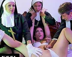 Celebrant & Nuns Fuck The Demon Get off on Mesmerized Slut